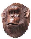 Symmetrical Wood Monkey Mask Bali Bev Dunbar Maths Matters