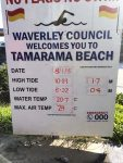 Tamarama Tide Chart Bev Dunbar Maths Matters