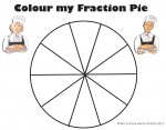 Tenths Colour my Fraction Pie Bev Dunbar Maths Matters
