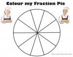Tenths Colour my Fraction Pie Bev Dunbar Maths Matters
