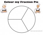 Thirds Colour my Fraction Pie Bev Dunbar Maths Matters