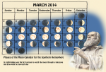 Time- Phases of the Moon Calendar - March - John Duffield duffield-design
