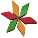 Turn wooden block rotation pattern 1 Bev Dunbar Maths Matters