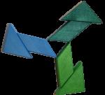 Turn wooden block rotation pattern 3 Bev Dunbar Maths Matters