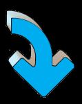 Turning Arrows - Blue Down - John Duffield duffield-design