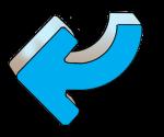 Turning Arrows - Blue Left - John Duffield duffield-design