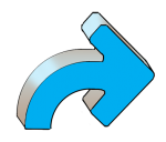 Turning Arrows - Blue Right - John Duffield duffield-design