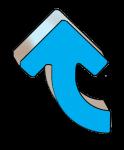 Turning Arrows - Blue Up - John Duffield duffield-design