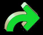 Turning Arrows - Green Right - John Duffield duffield-design