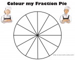 Twelfths Colour my Fraction Pie Bev Dunbar Maths Matters