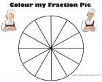 Twelfths Colour my Fraction Pie Bev Dunbar Maths Matters