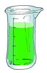 Volume & Capacity Fractions - Beaker Fifths - 4 Fifths marked - John Duffield duffield-design