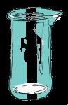Volume & Capacity Fractions - Beaker Fifths - Empty - John Duffield duffield-design