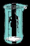 Volume & Capacity Fractions - Beaker Fifths - Empty marked - John Duffield duffield-design