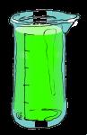 Volume & Capacity Fractions - Beaker Fifths - Full marked - John Duffield duffield-design