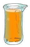 Volume & Capacity Fractions - Beaker Fifths - Full unmarked - John Duffield duffield-design