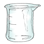 Volume - Marked Quarters Beaker - Empty - John Duffield duffield-design