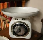 White Kitchen Scales Bev Dunbar Maths Matters