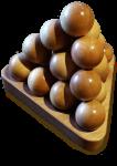 Wooden Ball Tetrahedron Bev Dunbar Maths Matters