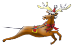 Xmas Reindeer 1  - John Duffield duffield-design