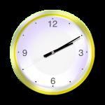 Yellow Clock - 10 mins past 2 oclock - John Duffield duffield-design
