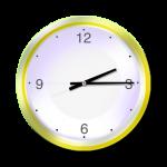 Yellow Clock - 15 mins past 2 oclock - John Duffield duffield-design