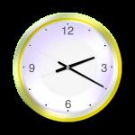 Yellow Clock - 20 mins past 2 oclock - John Duffield duffield-design