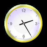 Yellow Clock - 25 mins past 2 oclock - John Duffield duffield-design