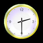 Yellow Clock - 30 mins past 2 oclock - John Duffield duffield-design