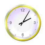 Yellow Clock - 5 mins past 2 oclock - John Duffield duffield-design