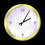 Yellow Clock - 5 mins past 2 oclock - John Duffield duffield-design