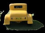 Yellow vintage car - Back- Bev Dunbar Maths Matters