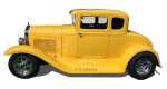 Yellow vintage car - Side - Bev Dunbar Maths Matters