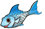 fish blue -John Duffield duffield-design